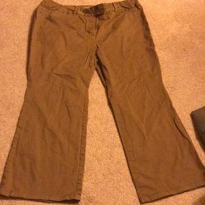 Women's khaki dress pants